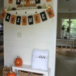Pottery Barn Inspired Halloween Entryway