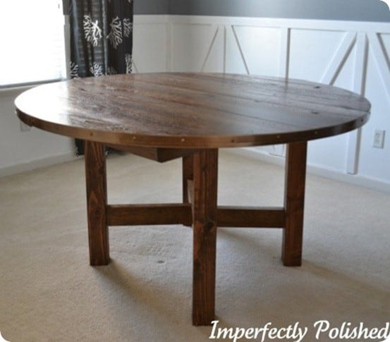 Pottery Barn Knock Off Round Table