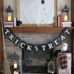 Burlap Trick-Or-Treat Halloween Banner