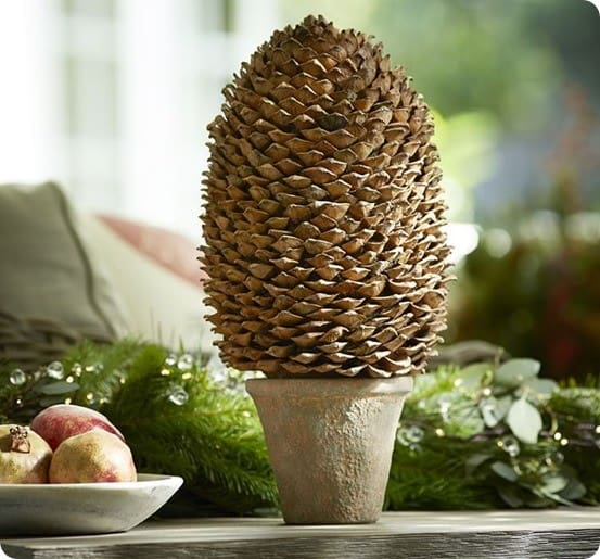 Pottery Barn Pinecone Topiary