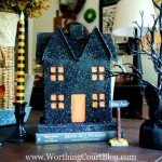 Glitter Haunted House for Halloween