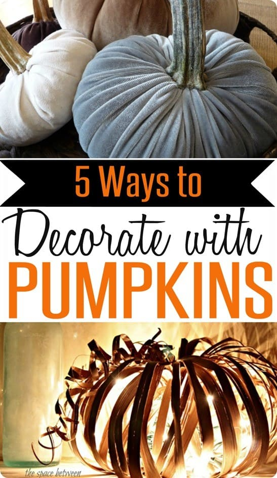 Fall Decorating Ideas | Pumpkins are a fall staple! Check out these five creative pumpkin crafts to get your home fall ready!