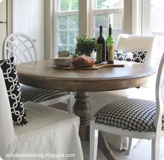 Refinished Dining Room Tables: Ten Ways To Make Over A Dining Room Table