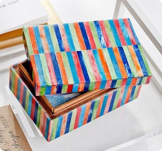 Tara Multicolor Box from Pottery Barn