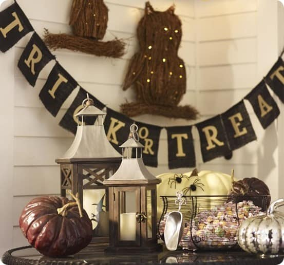 Trick or Treat Banner from Pottery Barn