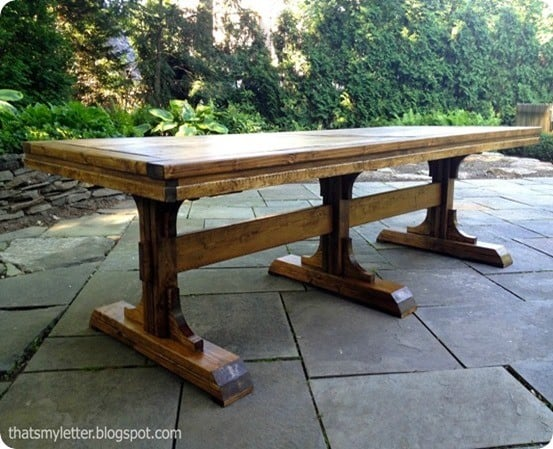 Triple Pedestal Farmhouse Table