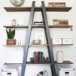 Ladder Bookshelf for Craft Storage