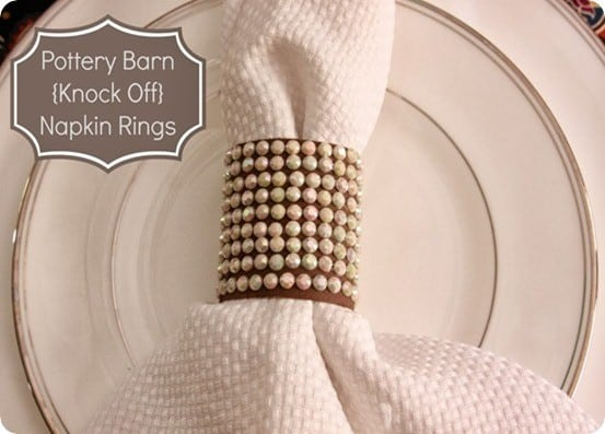 Would you ever believe these Pottery Barn knock off napkin rings are made from TP rolls?