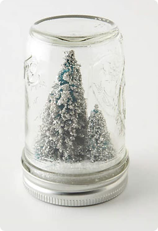 Anthropologie Mason Jar Snow Globe
