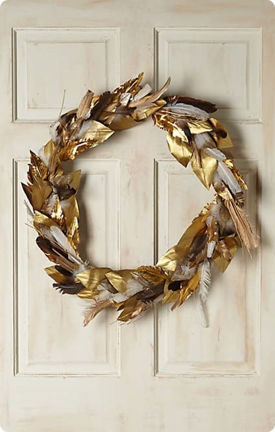 Anthropologie's Fallen Feathers Wreath