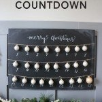 Simple Chalkboard Christmas Countdown
