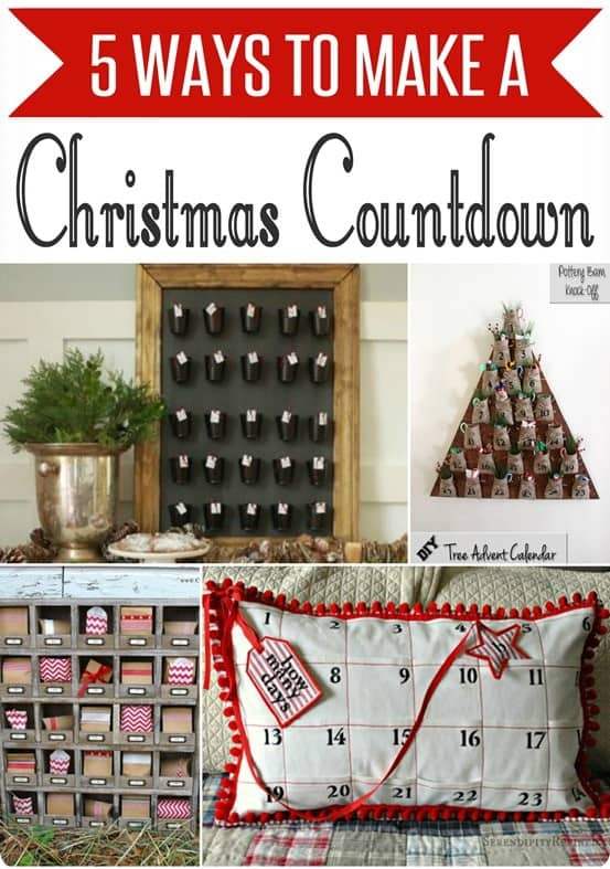 Christmas Countdown ~ These five DIY Christmas advent calendars were all inspired by Pottery Barn!