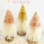 Glitter Bottle Brush Christmas Trees