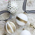 Gold Glitter Christmas Ornaments