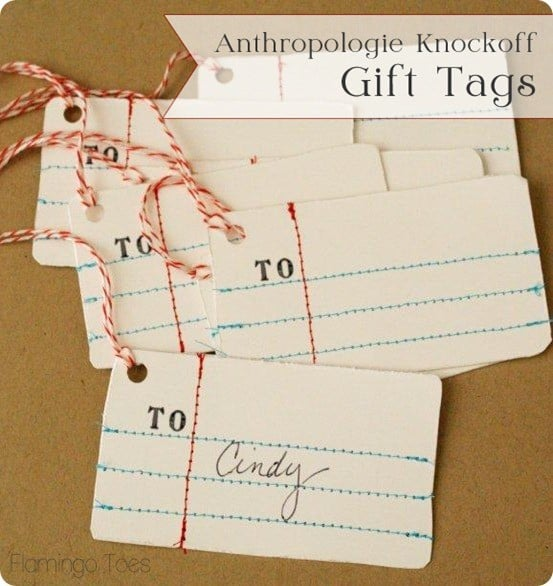 DIY Crafts ~ Make these Anthropologie knock off gift tags in only 20 minutes. So simple!