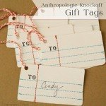 Homemade Notebook Paper Gift Tags