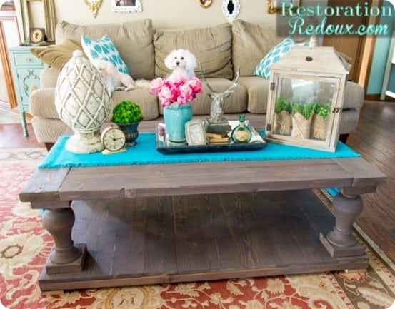 DIY Furniture ~ Check out how this Restoration Hardware knock off table was built for only $82!