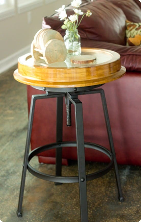 Industrial Clock Side Table Knockoffdecor Com