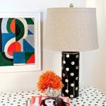 Black and Gold Lamp Makeover