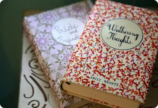 DIY Home Decor ~ Follow this tutorial to learn how to cover books with paper so they look like a pretty set from Anthropologie.