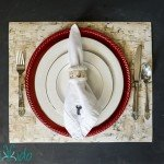 Faux Birch Wrapping Paper Placemats