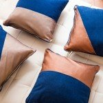 No-Sew Leather Accent Pillows