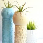 Hot Glue and Paint Vase Makeover