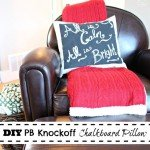 Christmas Chalkboard Pillow