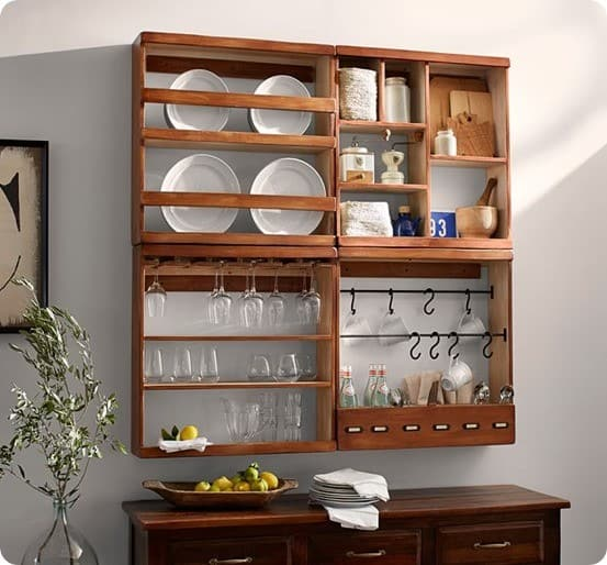 Fruit Crate Shelves from Pottery Barn