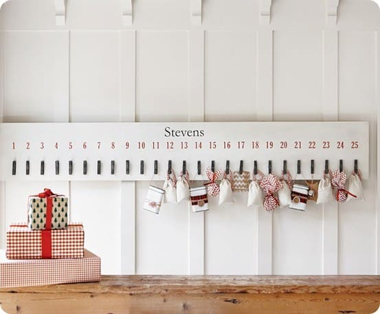 Jumbo Clothespin Advent from Pottery Barn Kids