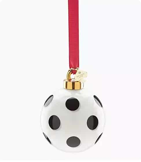 Kate Spade Polka Dot Christmas Ornaments