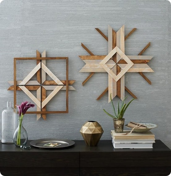 Mid-Century Abstract Snowflake Wall Art from West Elm