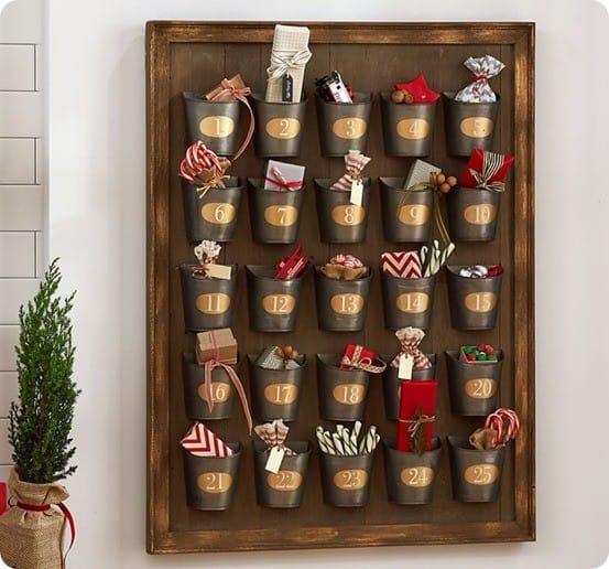 Pottery Barn's Gilt Galvanized Advent Calendar