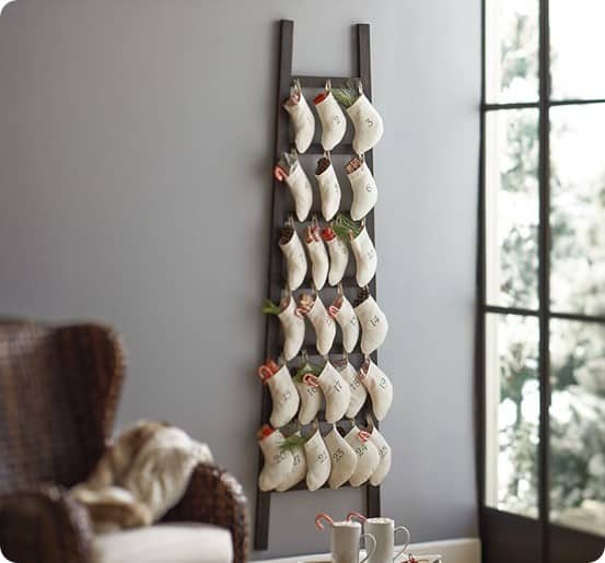 Stocking Ladder Advent Calendar