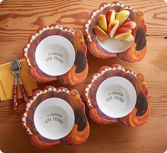 Thanksgiving Turkey Shaped Bowls