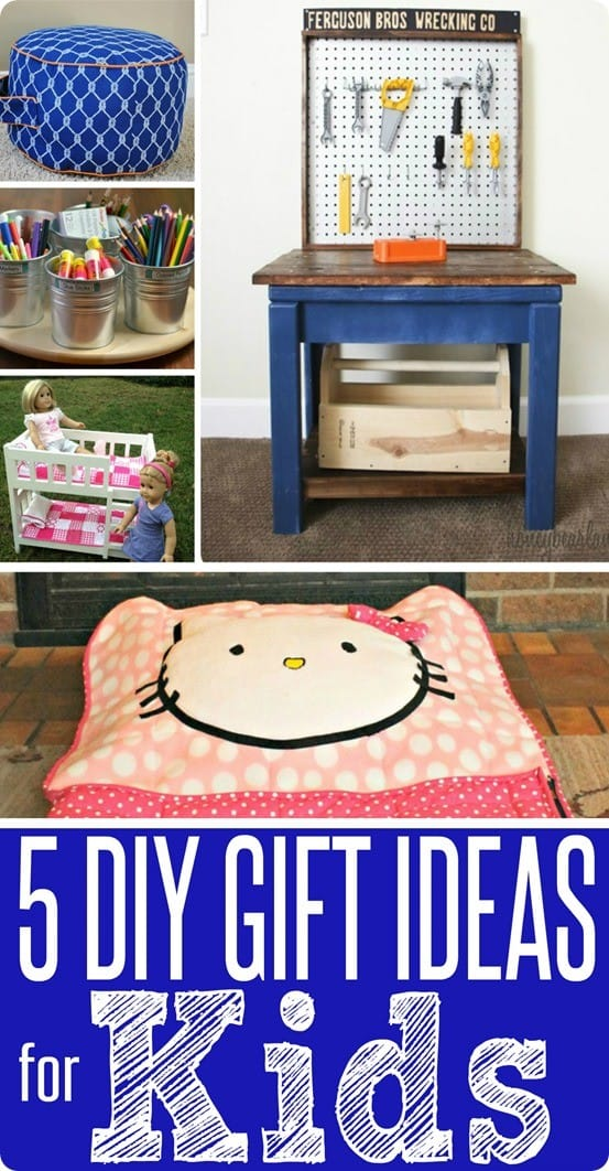 5 DIY Christmas Gifts for Kids ~ Skip the toy store this year and make your kids a gift they will love with these five gift ideas for kids!