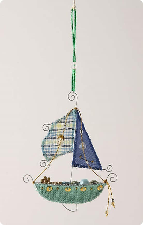 Anthropologie Ship Ornament