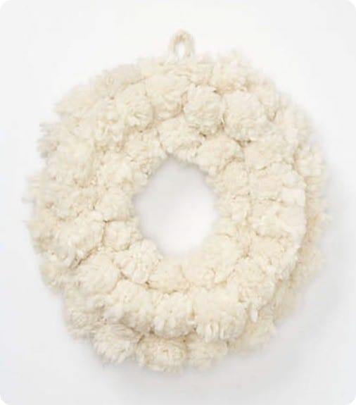 Anthropologie Tufted Wool Wreath