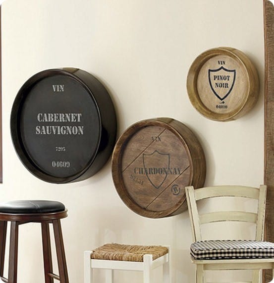 Ballard Designs' Wine Barrel Plaques