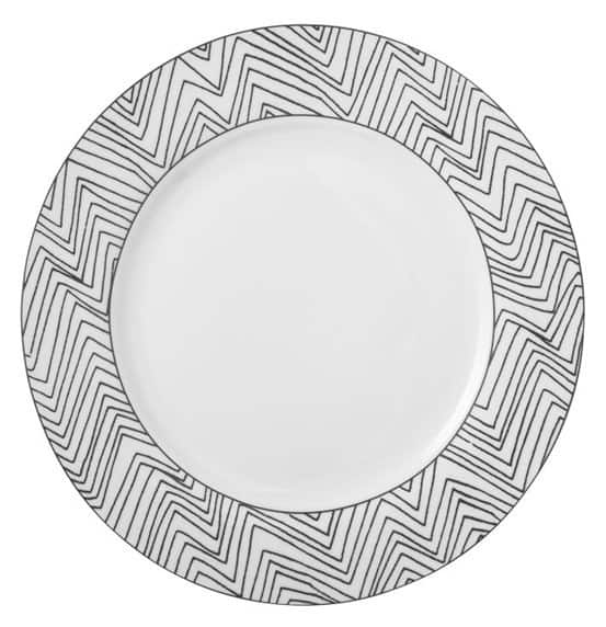 Chevron Sketch Dinnerware from West Elm