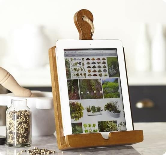 Cuisine Tablet Recipe Holder from Pottery Barn