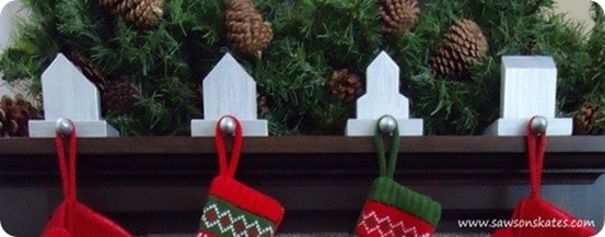 DIY Christmas Decorations ~ Turn wood scraps into West Elm inspired stocking holders!