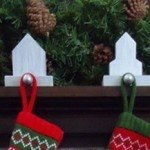 House Stocking Holders from Scrap Wood