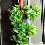 Monogram Christmas Wreath from Yard Clippings