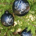 Christmas Carol Chalkboard Ornaments