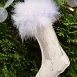 Paper Stocking Ornament with Fur Trim