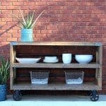 Industrial Wood and Steel Console