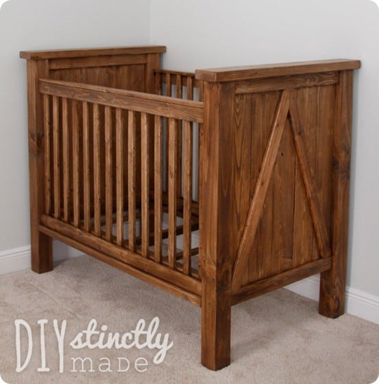Rustic Farmhouse Crib For Under 200 Knockoffdecor Com