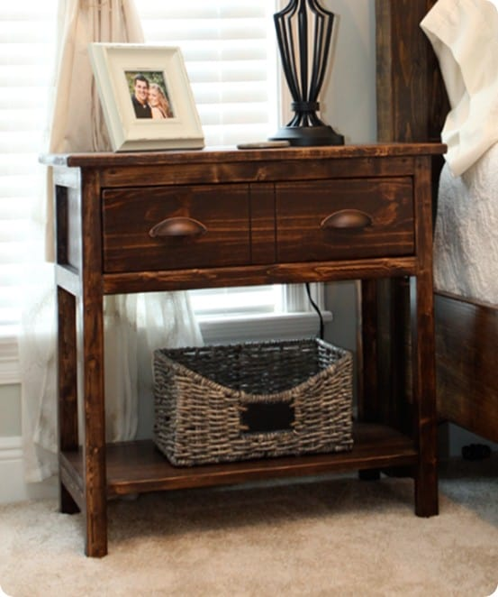 DIY Furniture ~ These two Pottery Barn knock off farmhouse nighstands were built for $90, and that's for BOTH!