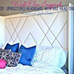 Upholstered Headboard with Patterned Nailhead Trim